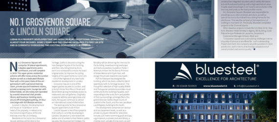 Bluesteel and GROSVENOR SQUARE on Premier Construction Magazine